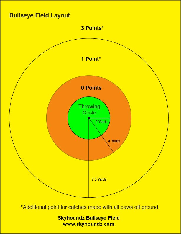 Bullseye соревнования в размеченном круге.